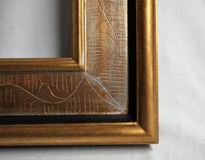 atelier coulouvrat - baguette Smyrne gravé vermeil filet noir