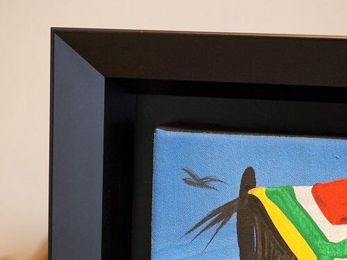 atelier coulouvrat - réalisation cadre US noir pente